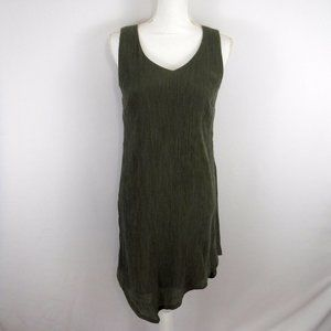 J.jill Pure Jill Green Lagenlook Sleeveless Dress